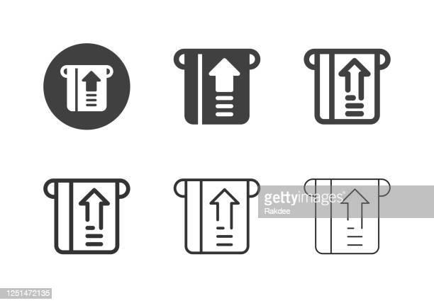 insert card icons - multi series - inserting stock illustrations