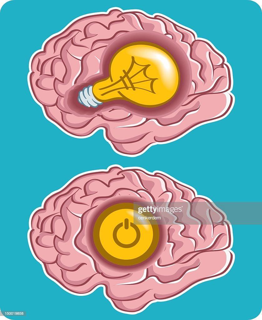 inside the brain : Vector Art