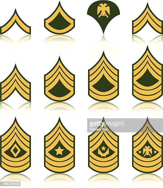 insignia - us military emblems stock illustrations