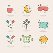 Insomnia Line Icons