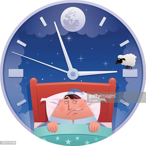 insomnia - sleeping stock illustrations