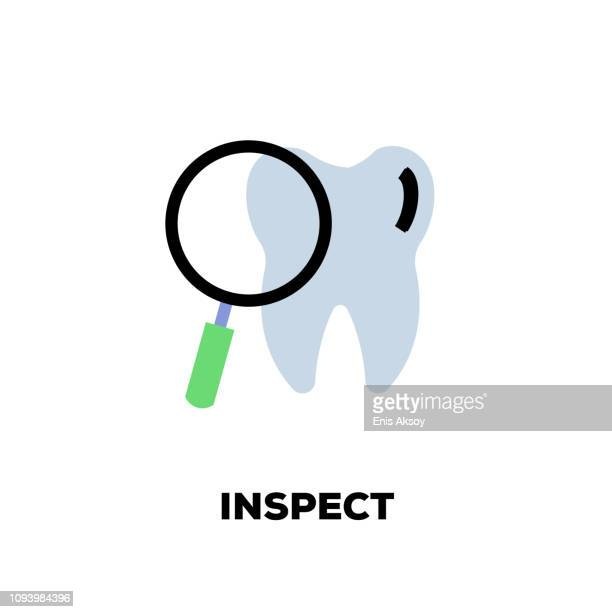 inspect line icon - inspector stock illustrations, clip art, cartoons, & icons
