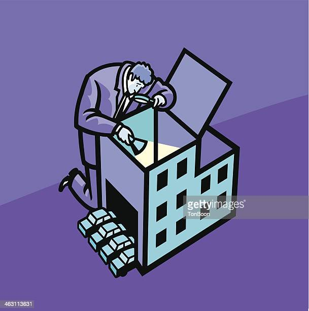 inspecting company - inspector stock illustrations, clip art, cartoons, & icons