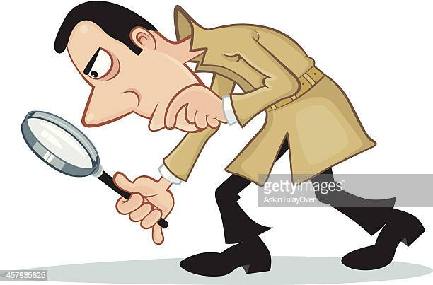 inspector - crime scene stock illustrations, clip art, cartoons, & icons