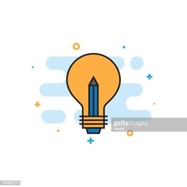 Inspirations ligne plate icône