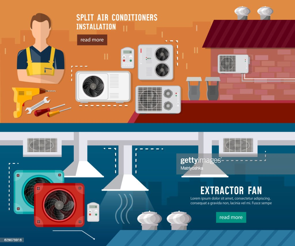Installation of air conditioners, split system