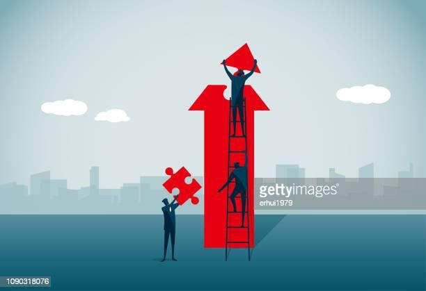 ilustrações, clipart, desenhos animados e ícones de instalar - estratégia de negócio