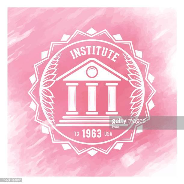 Institute Badge Watercolor Background
