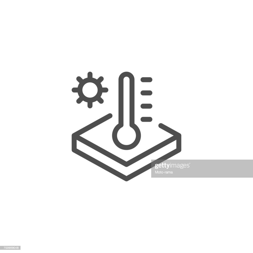 Insulation temperature line icon
