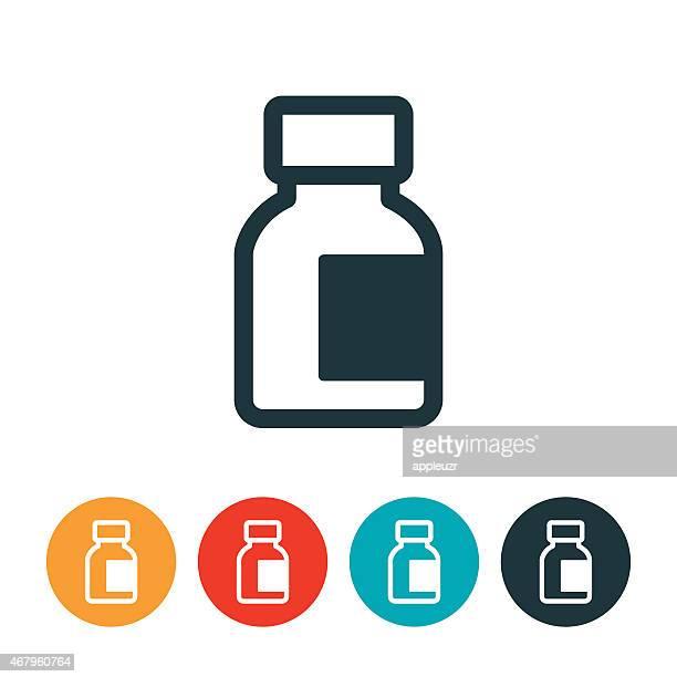 インシュリンボトルのアイコン - バイアル点のイラスト素材/クリップアート素材/マンガ素材/アイコン素材