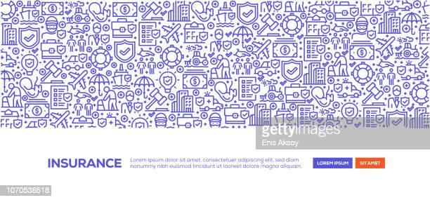 ilustrações, clipart, desenhos animados e ícones de banner de seguro - formulário de pedido