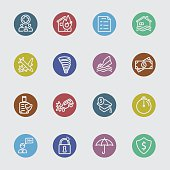 Insurance color circles line icon