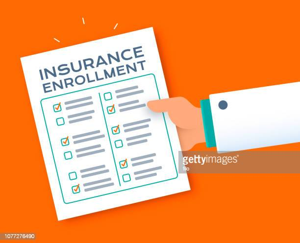 insurance enrollment questionnaire form - human body part stock illustrations