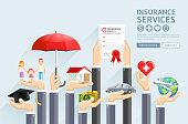 Insurance hands services.