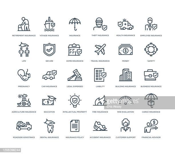 保険アイコンセット - 幸運点のイラスト素材/クリップアート素材/マンガ素材/アイコン素材