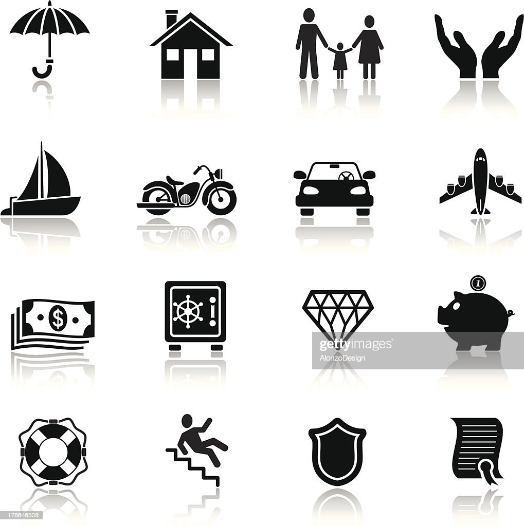 Insurance Icon Set High-Res Vector Graphic - Getty Images