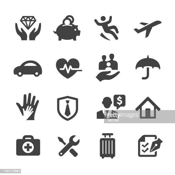 保険アイコン - アクメシリーズ - ライフスタイル点のイラスト素材/クリップアート素材/マンガ素材/アイコン素材