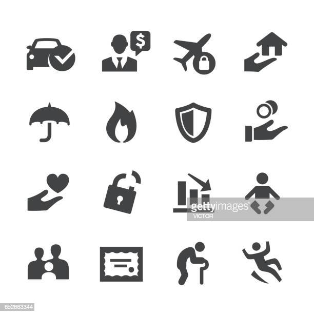 insurance icons - acme series - receiving stock illustrations