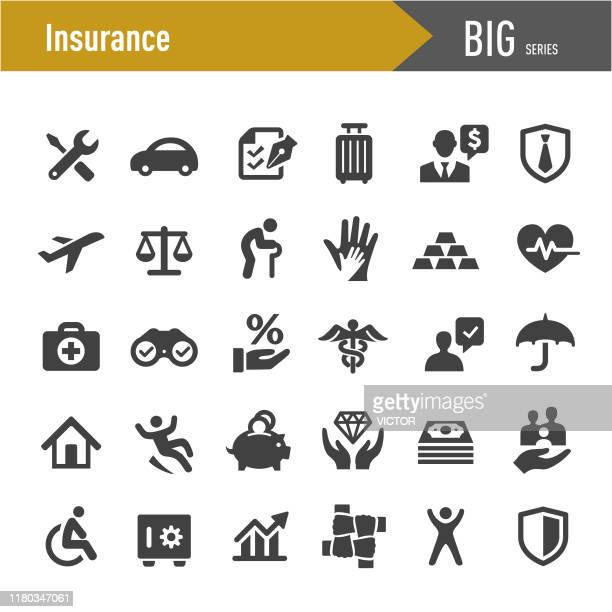 insurance icons - big series - chance stock illustrations