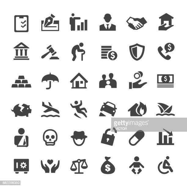 insurance icons - big series - courthouse stock illustrations, clip art, cartoons, & icons