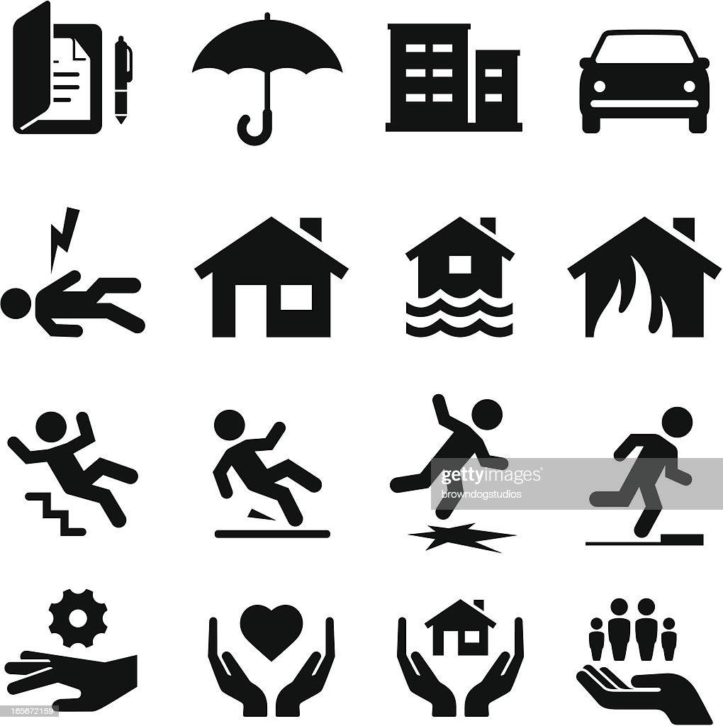 Insurance Icons - Black Series