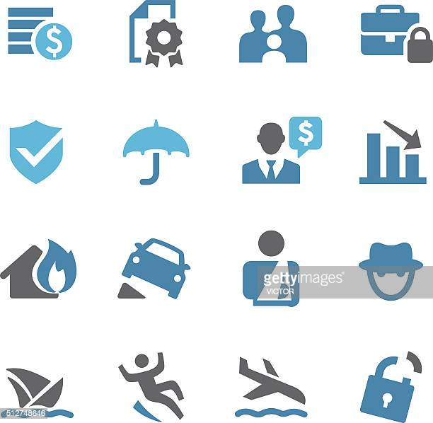 insurance icons - conc series - misfortune stock illustrations, clip art, cartoons, & icons