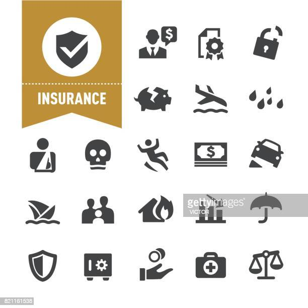 insurance icons - special series - bloco stock illustrations