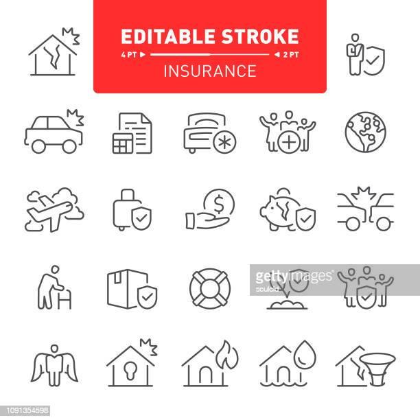 ilustrações, clipart, desenhos animados e ícones de ícones de seguros - formulário de pedido