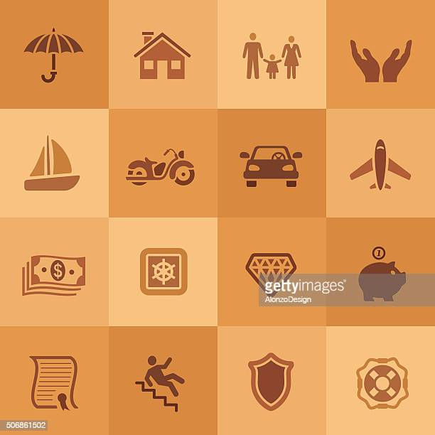 insurance icons - motorcycle accident stock illustrations