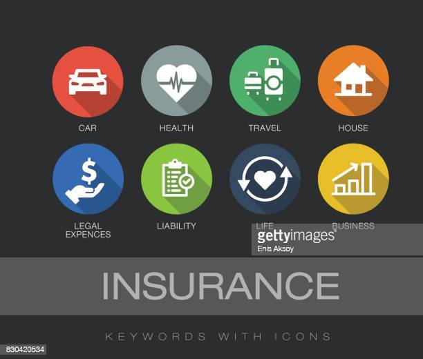 Insurance keywords with icons