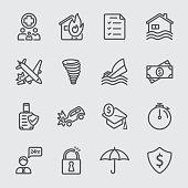 Insurance line icon