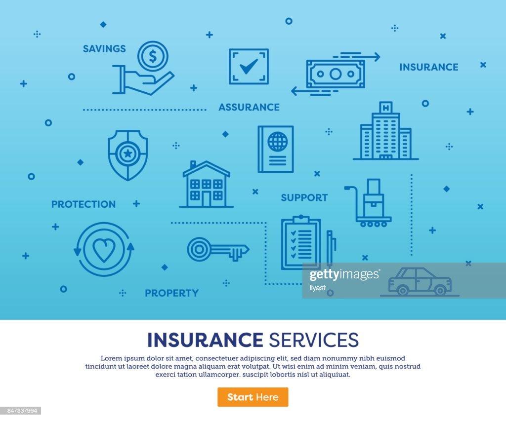 Insurance Services Concept : stock illustration