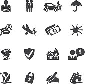 Insurance Silhouette icons  EPS10