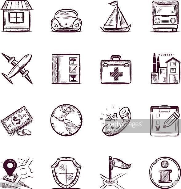 versicherung - skizze stock-grafiken, -clipart, -cartoons und -symbole