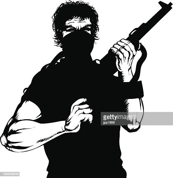 insurgent - terrorism stock illustrations