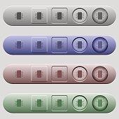 Integrated circuit icons on menu bars