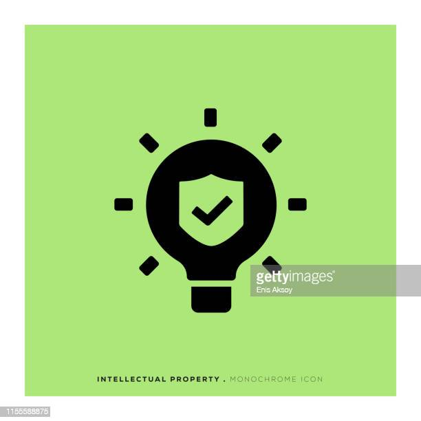 intellectual property icon - the_writer's_block stock illustrations