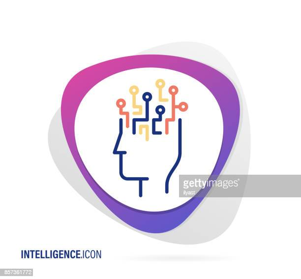 intelligence icon - linguistics stock illustrations