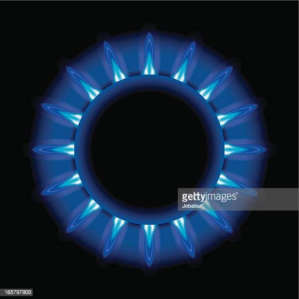 Intense Blue Gas Flame