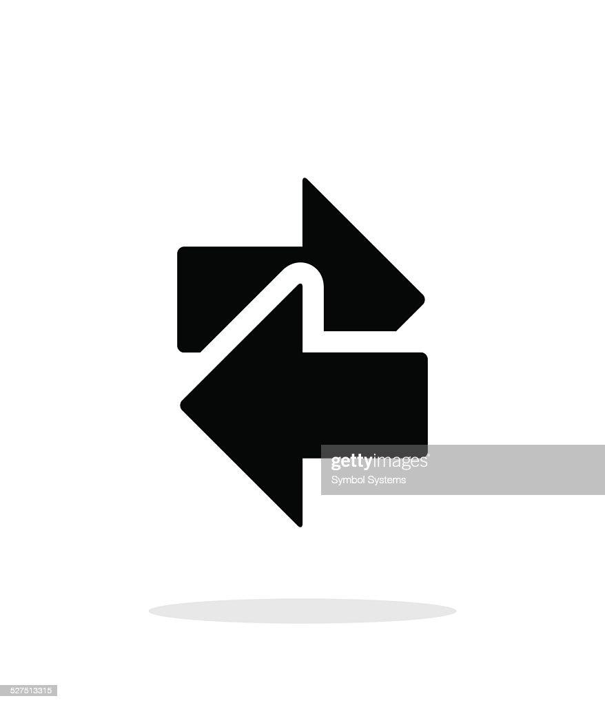 Interchange icon on white background.