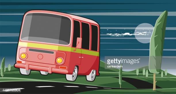 illustrations, cliparts, dessins animés et icônes de caravane interurbaine - camping car