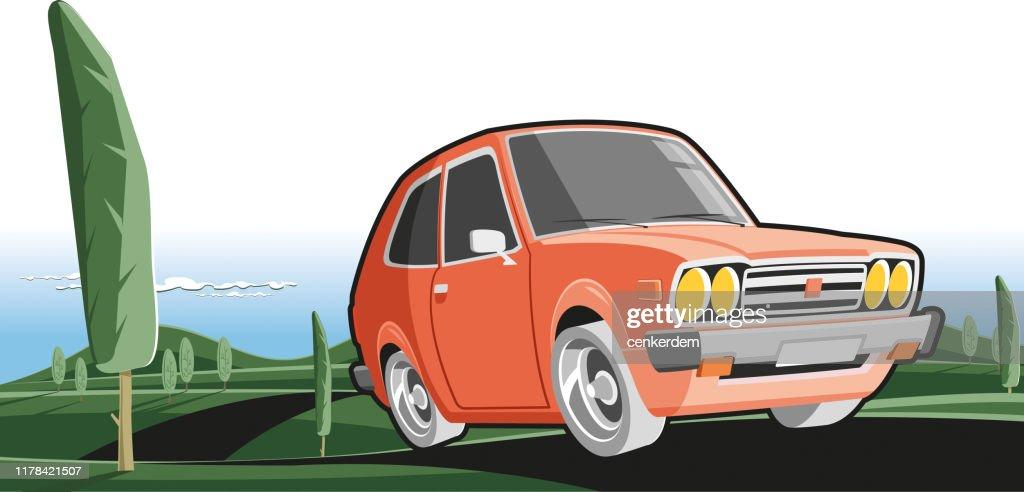 Intercity driving : stock illustration
