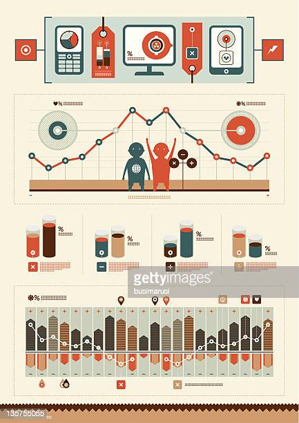 interesting elements of infographics - desk toy stock illustrations, clip art, cartoons, & icons