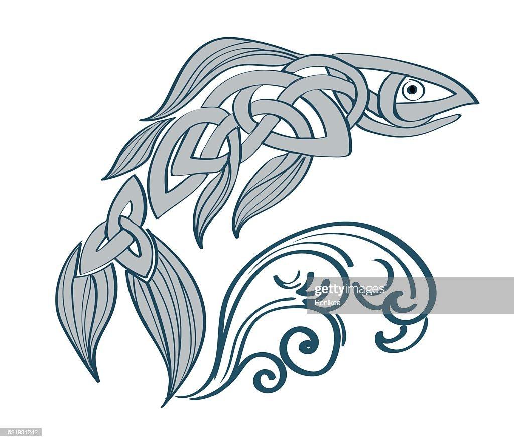 Interesting fish celtic patterns