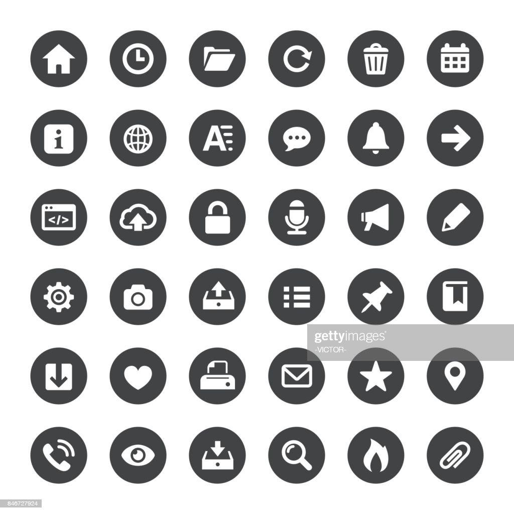 インターフェイスとメディアのベクトル アイコン : ストックイラストレーション