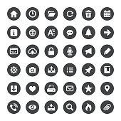Interface and Media Vector Icons