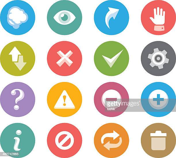 interface buttons / wheelico icons - information symbol stock illustrations, clip art, cartoons, & icons