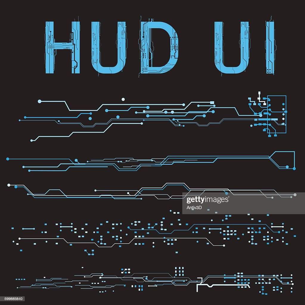 HUD interface concept futuristic virtual graphic touch user