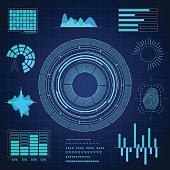 HUD Interface Futuristic Graphic Background Card. Vector