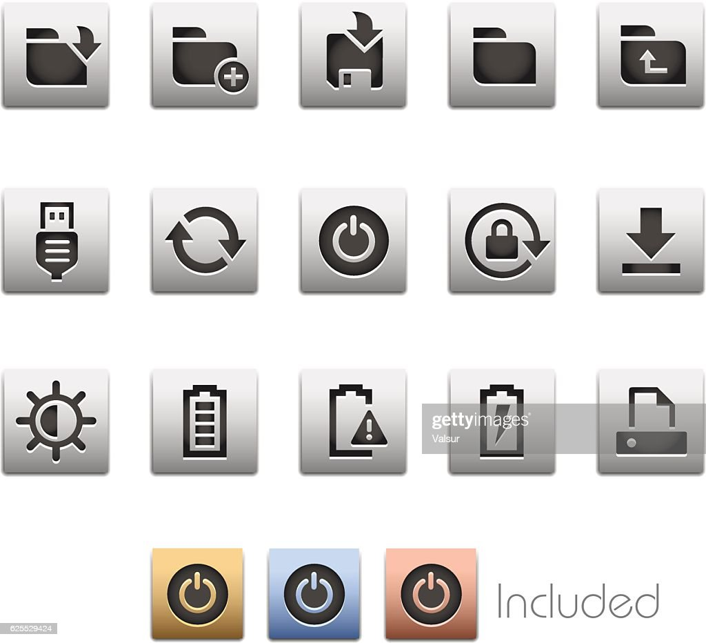 Interface Icons 3 - Metalbox Series